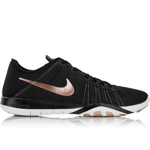 Nike free training rose gold and black shoes